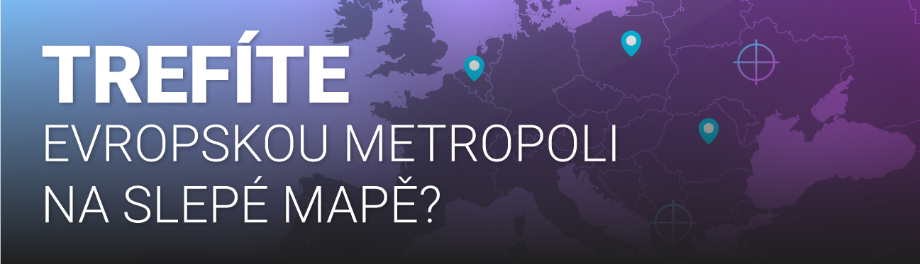 Trefíte město na slepé mapě?