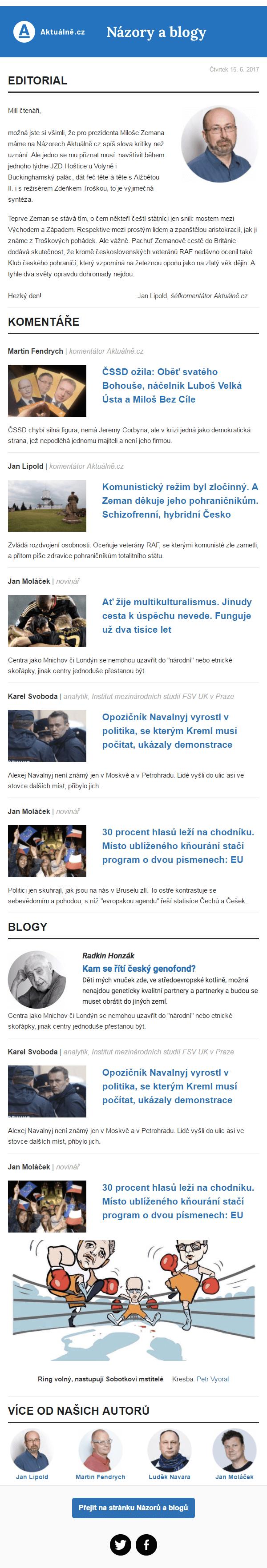 Náhled newsletteru Názory Aktuálně.cz