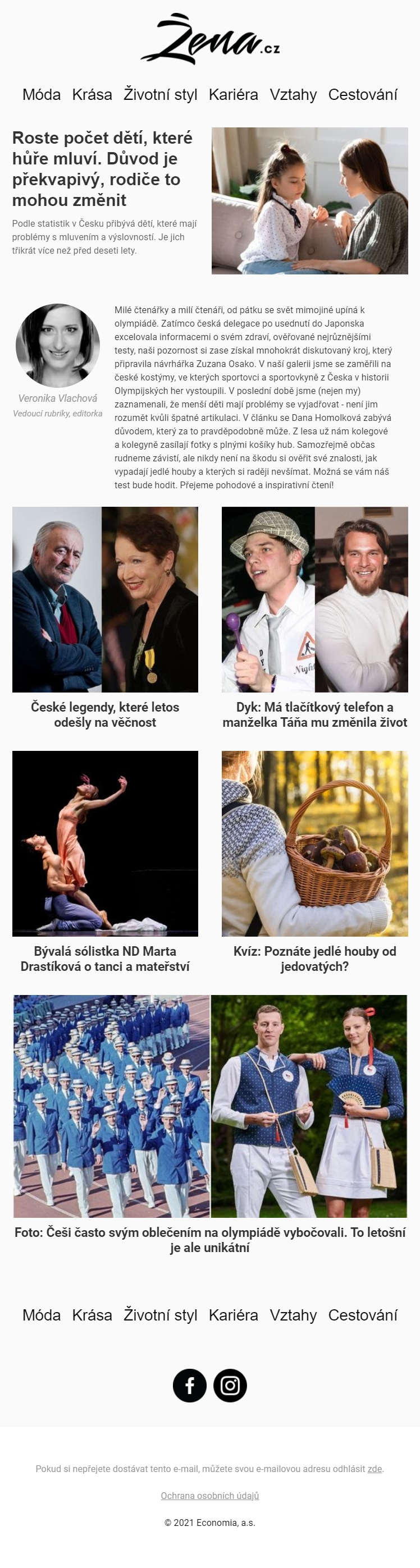 Náhled newsletteru Žena.cz